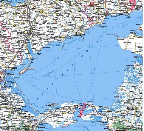 Карта Арабатской Стрелки Подробная